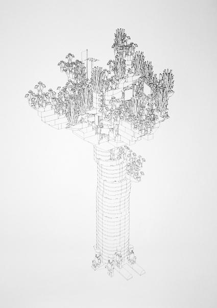 lego tree, 2mx1.5m, roller pen